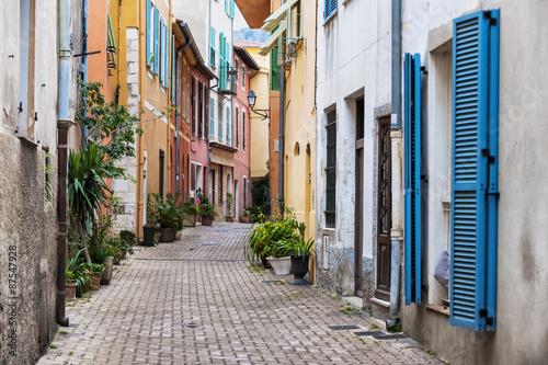 obraz lub plakat Stare miasto ulicy w Villefranche-sur-Mer