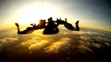 Skydiving tandem amazing sunset HD video