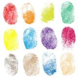 Fototapety Set of fingerprints, vector illustration