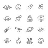 Fototapety Space Icons