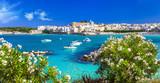 Fototapety Italian vacation - Otranto in Puglia with cristal waters