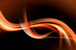 Orange Fire Abstract Waves
