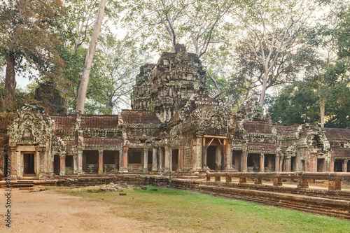 Ta Prohm Temple ancient gate, Angkor Poster