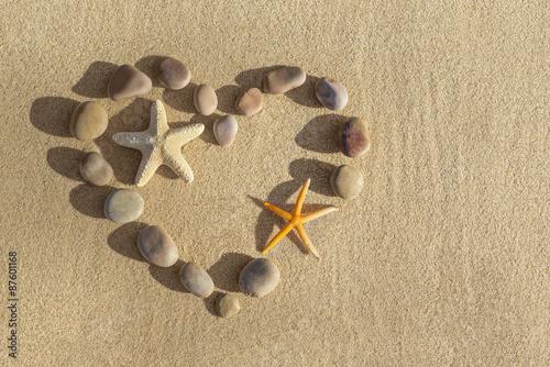 Papiers peints Zen pierres a sable Etoile de Mer sur Sable