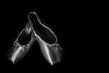 Closeup Ballet Shoes isolated on Black Background - 87661724