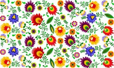 Polski folklor - kolorowy wzór