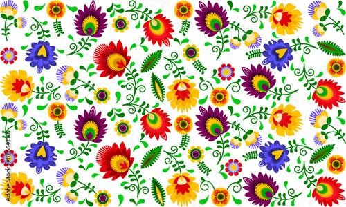 Polski folklor - kolorowy wzór © clivio1