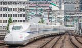 Pociąg Shinkansen pociągiem pocisków szybkich linii kolejowych w Japonii