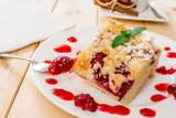 Fototapeta Raspberry dessert