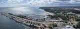 Fototapety Panorama of Gdynia Kosciuszko harbor, Poland