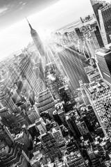 New York City Manhattan skyline in sunset. © kasto