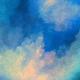 Fototapety Dramatic Sky Painting Vector Background