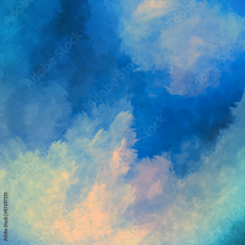 Dramatic Sky Painting Vector Background