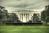 Fototapety The White House in Washington D.C., Executive Office of the President of the United States, HDR, vintage style