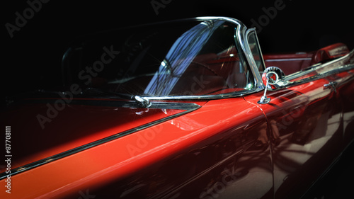 Stary klasyczny samochód.