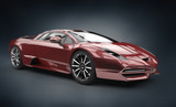 Fototapety red brandless sport car