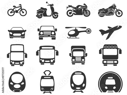 Poster Transport mode icons
