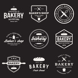 Fototapety vector set of bakery labels, badges and design elements