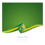 Fototapety New abstract Brazil flag ribbon