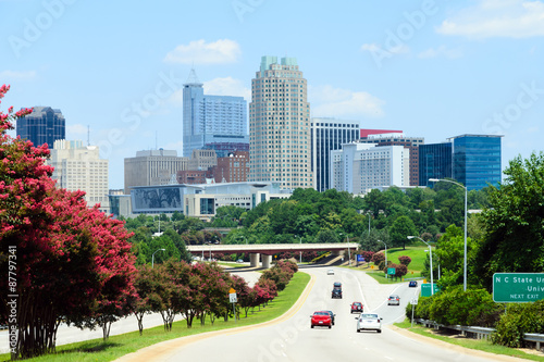 View on downtown Raleigh, NC. USA