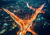 Zdj? Cie lotnicze ogromnej autostrady skrzy? Owania w Tokio