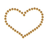 Heart collected from granules of brown dry pet (cat or dog)food