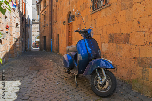 Classic Italian mode of transport through the narrow winding str