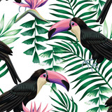toucan tropical pattern - 87820949