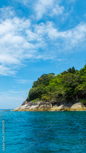 Fotobehang Eilanden Tachai Island in Andaman with Crystal Clear Sea in Sunny Day