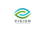 Eye Logo abstract design vector template...Business Technology v - 87847905