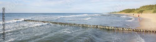 Panel Szklany Panorama Bałtyk falochron