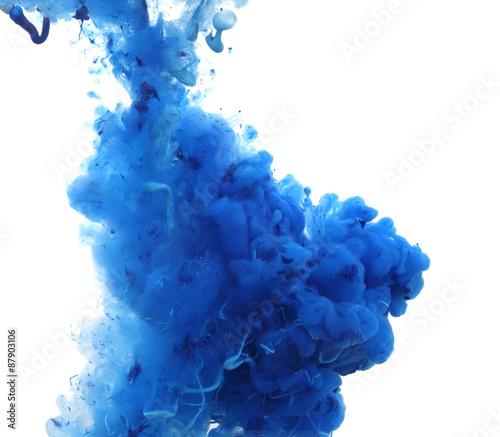 Fotobehang Kleuren in het water Acrylic colors and ink in water.