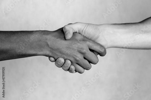 Handshake between friends