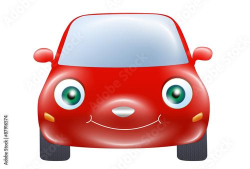 Fotobehang Auto Red car