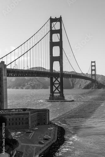 Fototapeta Golden Gate Bridge Black and White