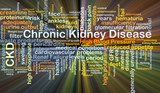 Chronic kidney disease CKD background concept glowing poster