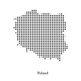 Fototapety Dotted map of Poland for your design