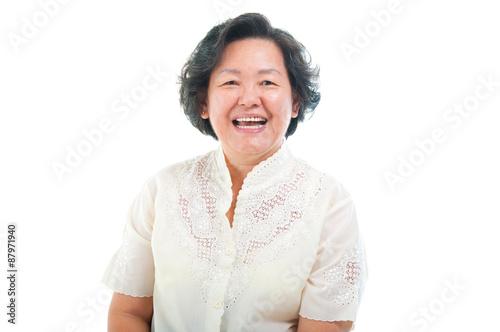Asian senior woman Poster