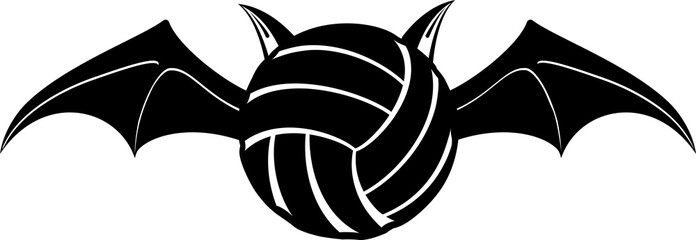 Vampire Volleyball Bat Silhouette