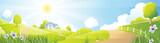 Rural landscape / rural  landscape with farm  - 88011728
