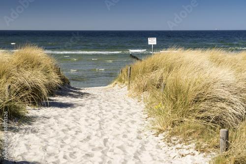 Strandübergang durch die Dünen zur Ostsee