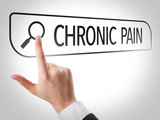 Chronic Pain written in search bar on virtual screen poster