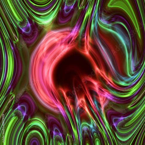 Ölig in einer Multifarbe
