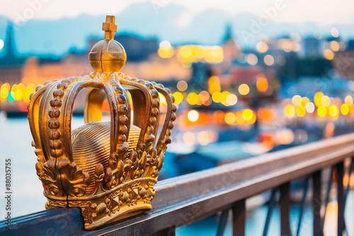 Zdjęcia Skeppsholmsbron - Skeppsholm Bridge With Its Famous Gilded Crown