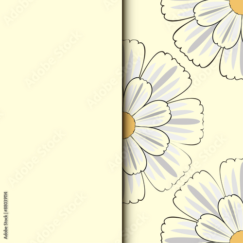 Romantic floral background with flowers of daisies © graffiti2108