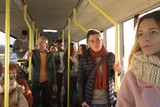 People travelling on a bus
