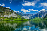Hallstatter See mountain lake in Austria