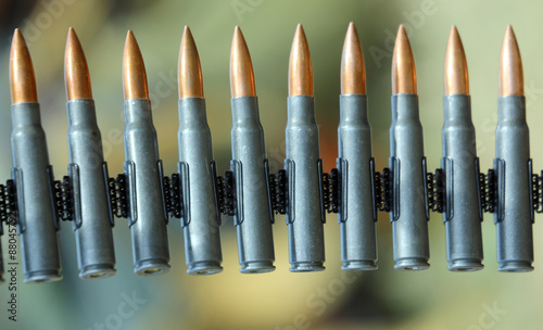 machine gun bullets during a war patrol of the army