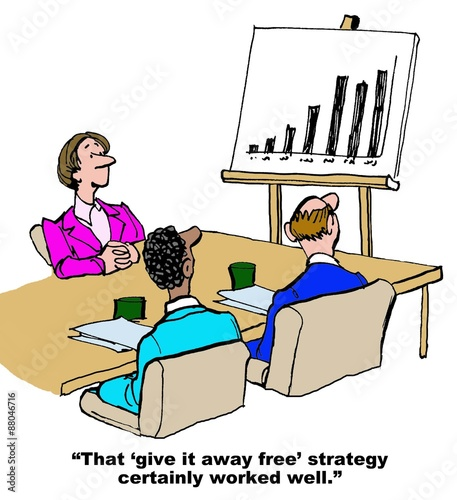 Business Cartoons Free Business Cartoon Showing