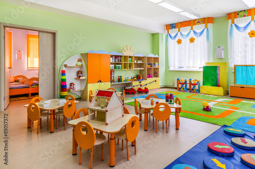 Fototapeta Kindergarten, game room.